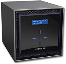 NETGEAR ReadyNAS RN424 4 Bay Diskless High Performance NAS, 40TB Capacity Network Attached Storage, Intel 1.5GHz Dual Core...