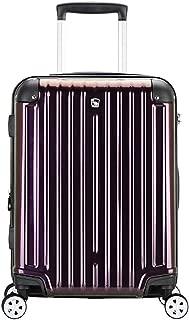 JXSHQS Travel Case Business Travel Password Trolley Case Luggage Bag Wear-Resistant Universal Wheel Waterproof Aluminum Frame Box Waterproof Seal Trolley case (Color : Purple, Size : 38x23x56cm)