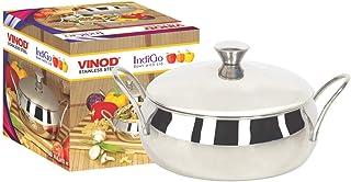 Vinod Stainless Steel Indigo Bowl with Side Handle (1100 ml)