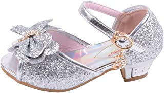 hebang HB Girls Princess Shoes Glitter Low Heel Dance Party Shoes Sandals