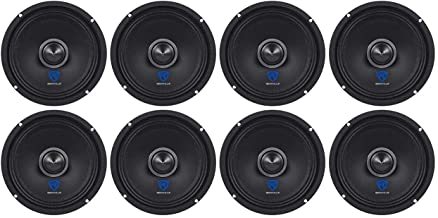 "(8) Rockville RXM64 6.5"" 1200w 4 Ohm Mid-Range Drivers Car Speakers, Mid Bass photo"