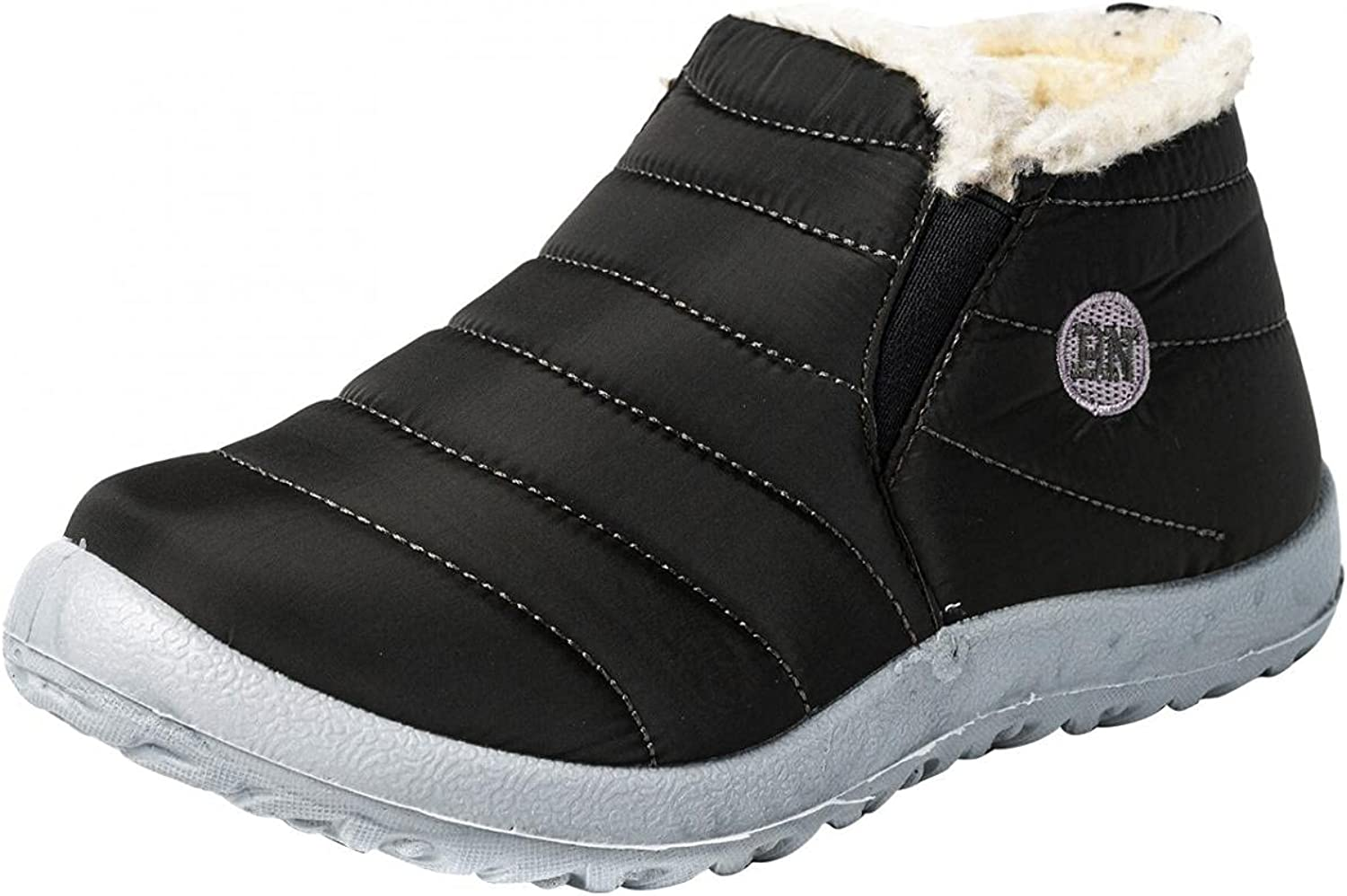 Aunimeifly Men's Snow Boots Winter Max 45% OFF Manufacturer direct delivery Ankle Booties Lined Fur Warm