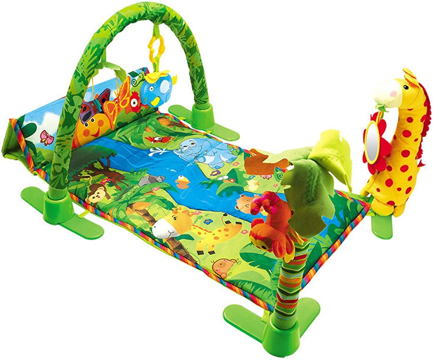 Baby Play Mat Gym With Music And Lights Activity Rug Suitable Newborns Play Blanket