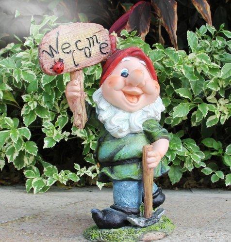 Diseño 4Enano Bienvenida 91131-4Welcome Bienvenida 35cm de alto Decoración Jardín Enano de jardín figuras Decoración Varios Diseño