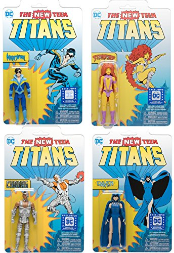 Funko DC Super Heroes Legion of Collectors - Classic Teen Titans Set of 4 Action Figure (Nightwing, Cyborg, Raven & Starfire)