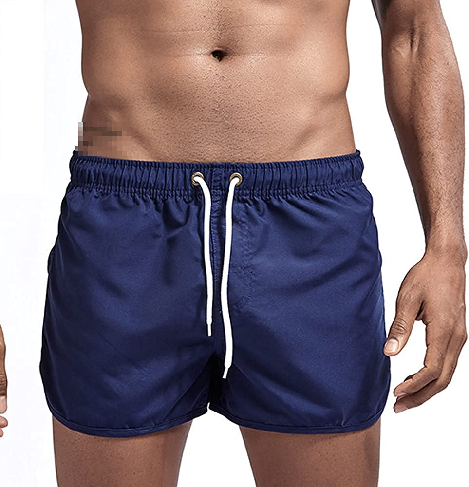 DFLYHLH Men's Sports Running Beach Shorts Swimming Quick-Drying Sports surf Shorts Men and Women Swimming Trunks
