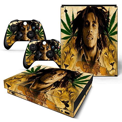 Microsoft XBOX ONE X Skin Design Foils Aufkleber Schutzfolie Set - Bob Marley Motiv
