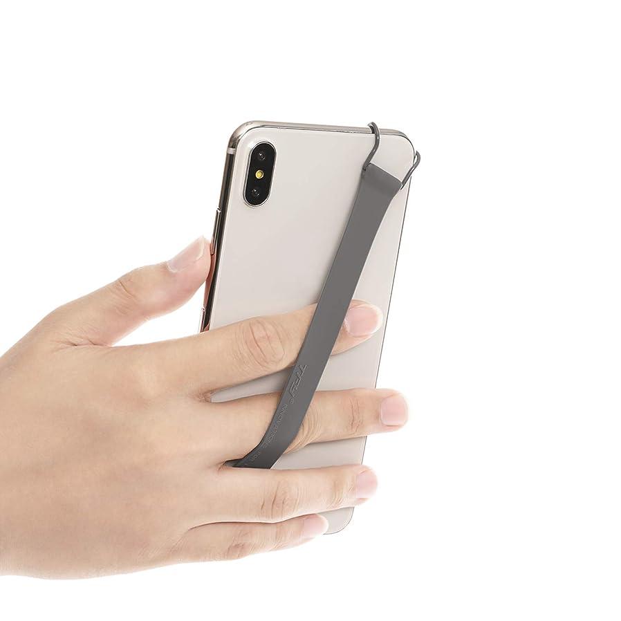 暗殺広々とした過半数ハンドストラップ TFY スマートフォン用安全ハンドストラップ - iPhone Xs Max/Xs/XR/X / 8 Plus / 8/7 Plus / 7/6 Plus / 6 Samsung Galaxy Note 9/8 / Galaxy S9 + / S9 / S8 + / S8 (グレー)