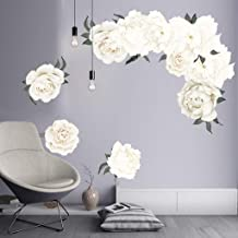 Youmymine 3D Art Wall Peony Rose Flowers Removable Kids Home Living Room Bedroom Wall Sticker Sofa Background Decorations (Multicolor) (Multicolor, C)
