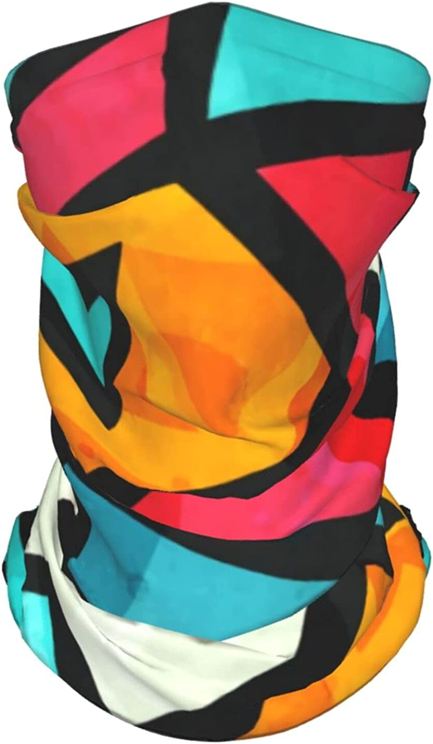Funky Pattern Neck Gaiter Multipurpose Headwear Ice Silk Mask Scarf Summer Cool Breathable Outdoor Sport 4 Pcs