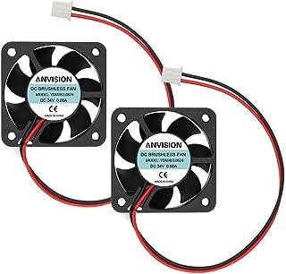 ANVISION 2-Pack DC 24V 40mm x 10mm Brushless Cooling Fan, Dual Ball Bearing, YDM4010B24