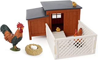ManFull Dollhouse Accessories, Miniature Ornament, Chicken Nest Figurine Exquisite Lovely Educational Farm House Poultry M...