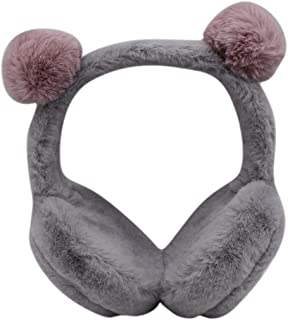 Winter Cute Cartoon Claw Ear Muffs Soft Fluffy Plush Headband Ear Warmers with Cat Ears for Girls Women