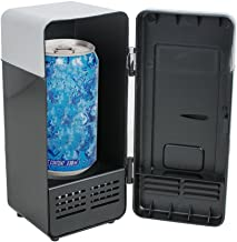 Funwill Mini USB Fridge Cooler, Portable Beer Beverage Drink Cans Cooler and Warmer Mini Refrigerator for Car Laptop PC Computer Office Home Travel Picnic Boat (Black)