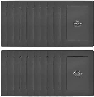 Monolike Paper Photo Frames 4x6 Inch Black 20 Pack - Fits 4