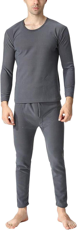Flygo Men's Heavyweight Fleece Lined Thermal Underwear Long Johns Set Base Layer