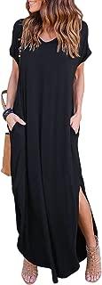 Women's Summer Maxi Dress Casual Loose Pockets Long Dress...