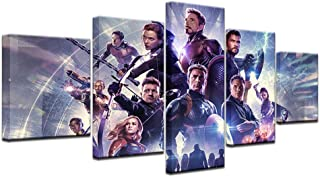 TYG Canvas Wall Art, Wall Painting Movie Avengers 4 Endgame Hero Character Print on Canvas Giclee Artwork Modern Decor Picture for Living Room/Bedroom Posters Stretched and Frame Ready to Hang 5PCS