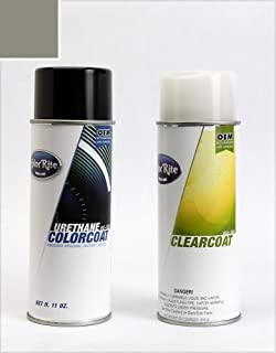 ColorRite Aerosol Automotive Touch-up Paint for Volvo S60 - Titanium Grey Metallic Clearcoat 455 - Color+Clearcoat Package