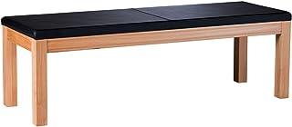 Marque Amazon -Alkove Hayes - Banc en cuir synthétique, 150,4x50,4x49cm, C-ur de hêtre