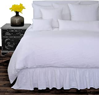 Luxury White Washed Flax 100 Pure Soft Organic Belgian Linen Elegant Comfortable Comfort Crisp Linen Souq Duvet Bed Heavy Comforter Case Washable Linen Duvet Bedding Duvet Cover Covers Twin68X85