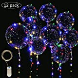 LED Light Up Bobo Balloons Fairy String Lights,Cell Battery Operated LED Fairy String Lights 4 Meters(13ft) 12 Pieces,20 inch Transparent Light Up Bobo Balloons 18 Pieces, Usage for Wedding Birthday Party Decoration