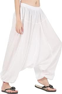 Men Women Elastic Baggy Hippie Boho Gypsy Aladdin Yoga Harem Pants