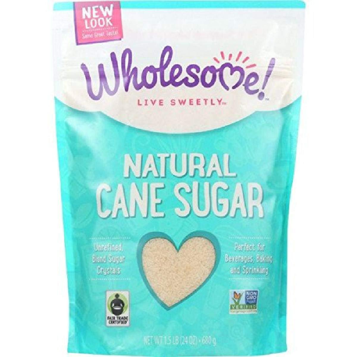 Wholesome Sweeteners Fair Latest item Trade Natural Sugar Cane half lb 1.5