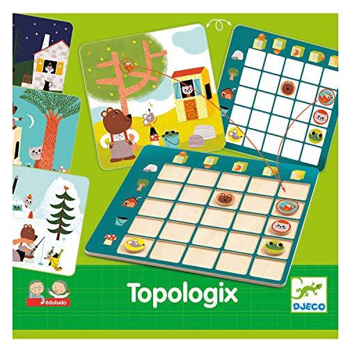 Djeco - Aktions- und Reflex-Spiele, Lernspiele, Eduludo Topologix, Mehrfarbig (DJ08354)