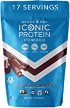 Iconic Protein Powder, Chocolate Truffle, 1 Lb (17 Serving) | Sugar Free, Low Carb Protein Shake | 20g Grass Fed Whey Prot...