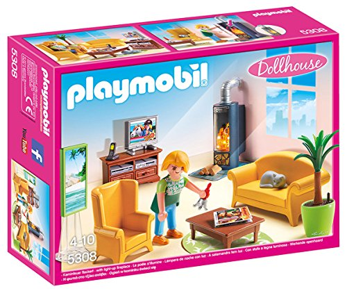 Ensemble Salon avec Foyer au Bois Playmobil - 5308 - 0