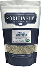 Positively Tea Company, Organic Pinhead Gunpowder, Green Tea, Loose Leaf, USDA Organic, 1 Pound Bag