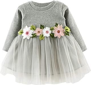Calsunbaby Newborn Baby Girl Dress Striped Heart Printed Princess Sundress Partywear