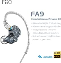 FiiO FA9 Knowles 6 Balanced Armature Driver in-Ear HiFi Earphone with Detachable MMCX monocrystalline Silver-Plated Copper...