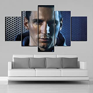 ARTZHUA Wall Art 5 Pieces Canvas Paintings American Football Creative 5 Pieces Football Stars Sports Wall Posters Football Canvas Paintings Art Prints Pictures Boys Bedroom Decor