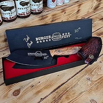 Dellinger D2 Sand Olive Couteau de chef pour barbecue Prague 2021 ? Acier D2 et acier carbone haut et manche ergonomique en bois d'olivier