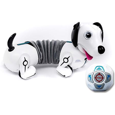 Silverlit Germany GmbH YCOO - ROBO DACKEL - Silverlit Toys - Ferngesteuerter und ausziehbarer Hund - Regiert auf Bewegungen - Holt seinen Ball - 35 cm - weiß, bunt, 40x23x25cm