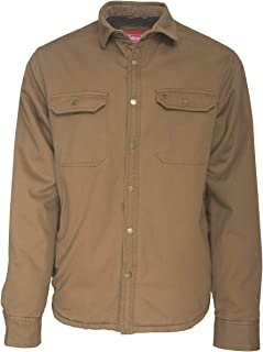 Coleman Sherpa Lined Twill Shirt Jackets for Men 100% Cotton