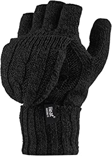 Heat Holders – Women's Thermal Converter Fingerless Cable Knit 2.3 Tog Gloves..