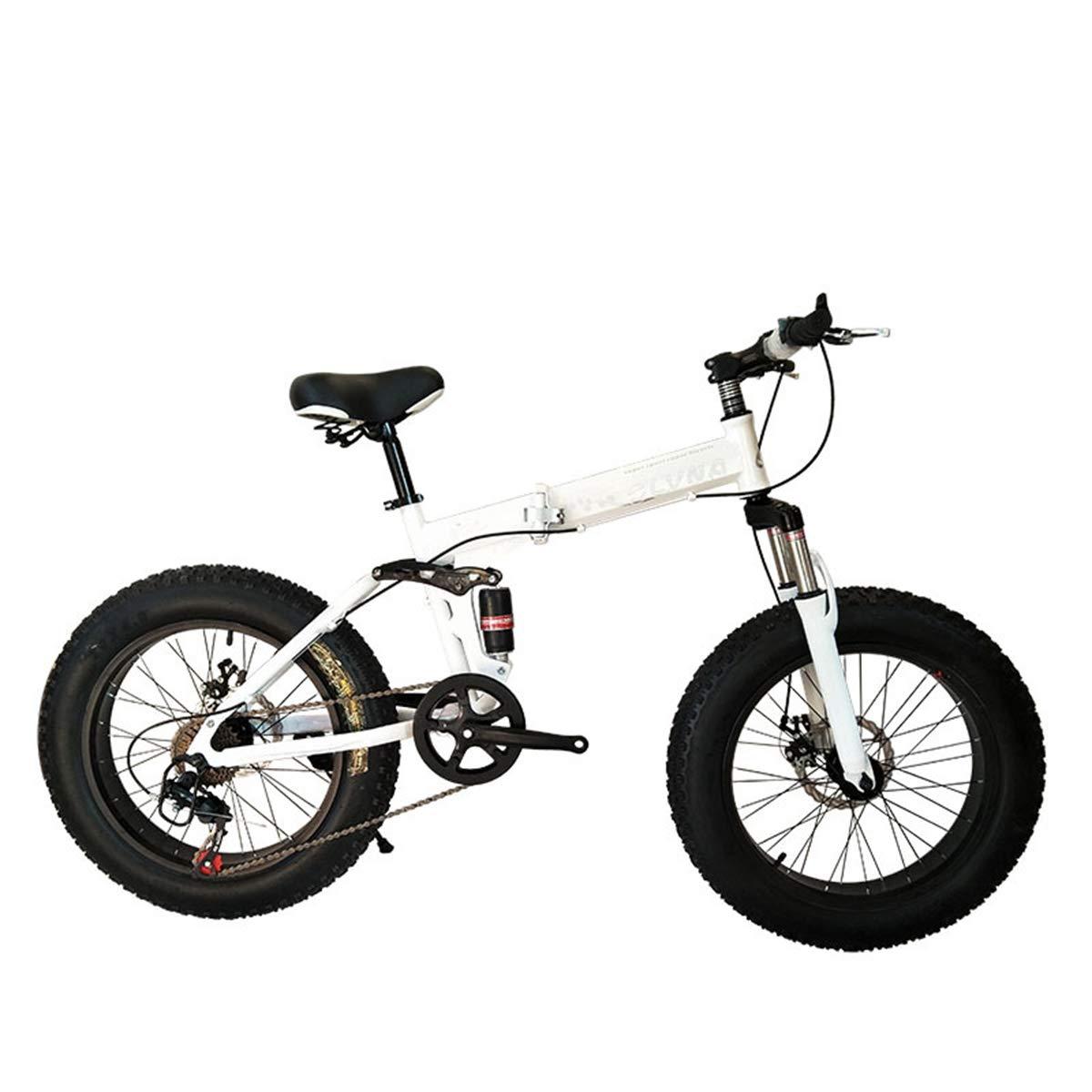Dapang Bicicleta de montaña Plegable, 20 Pulgadas, Velocidad 21/24/27, Engranajes Shimano con Llantas de 4.0