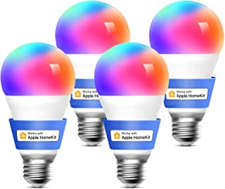 meross Smart Wifi Żarówka LED Ściemnialna Wielokolorowa E27 9W Inteligentne Światło RGBCW Kompatybilna z Homekit, SmartThi...