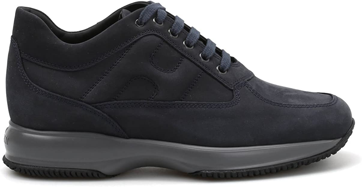 Hogan Luxury Fashion Uomo HXM00N00010DSCU215 Blu Pelle Sneakers ...