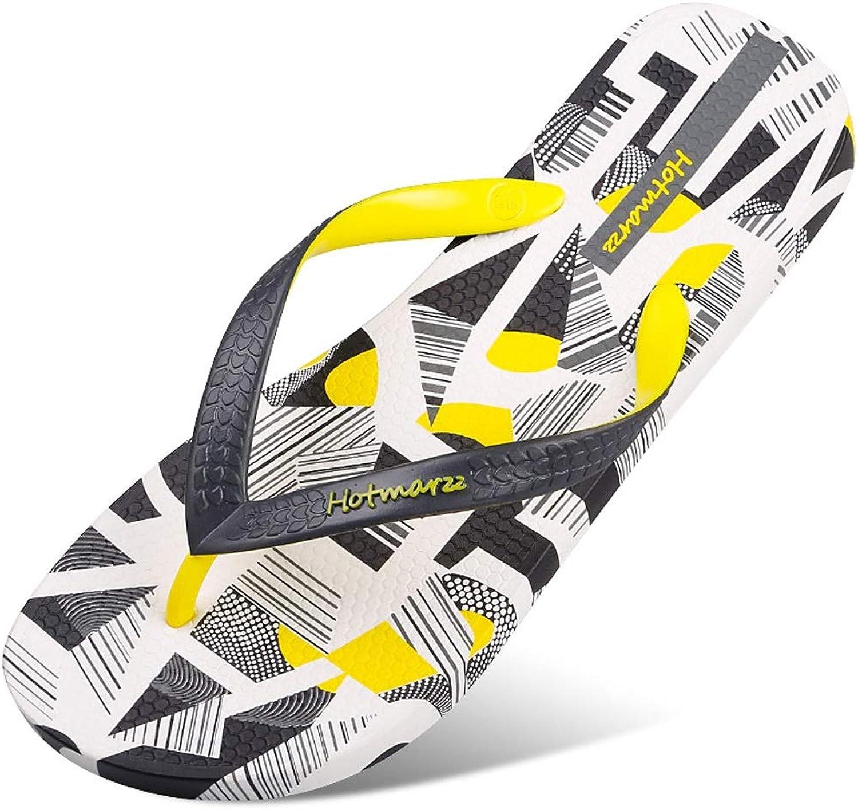 QAR QAR QAR Printed Flip Flop s Mans sommar Slippers Slippers Slip s utomhus Mode utomhus skor Flip Flop (Färg  Svart, Storlek  46)  shoppa nu
