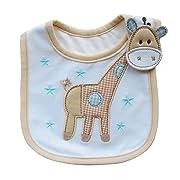 DZT1968 Giraffe Baby Cotton Feeding Smock Bibs Burp Cloth Towel (1~2 Years)