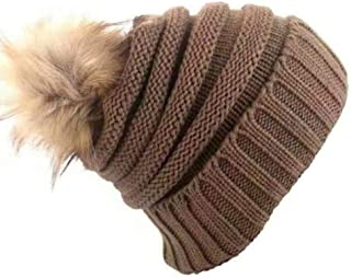 Knitted Hats for Women Hair Ball Knit Hat Female Autumn and Winter Warm Fashion Casual Hat