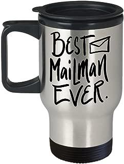 Best Mail Man Ever, Mailman Coffee Travel Mug, Postman Travel Mug, Mailman Thank You Gift Travel Mug,Travel Mug, Mail Person, Postal Carrier - 16 oz Travel Mug