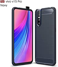 TiHen Case VIVO Y83, Case Shockproof Silicone Carbon Fiber Texture Light Brushed Grip Case 360° Protective Case Cover for VIVO Y83 Blue + Free Screen Protector