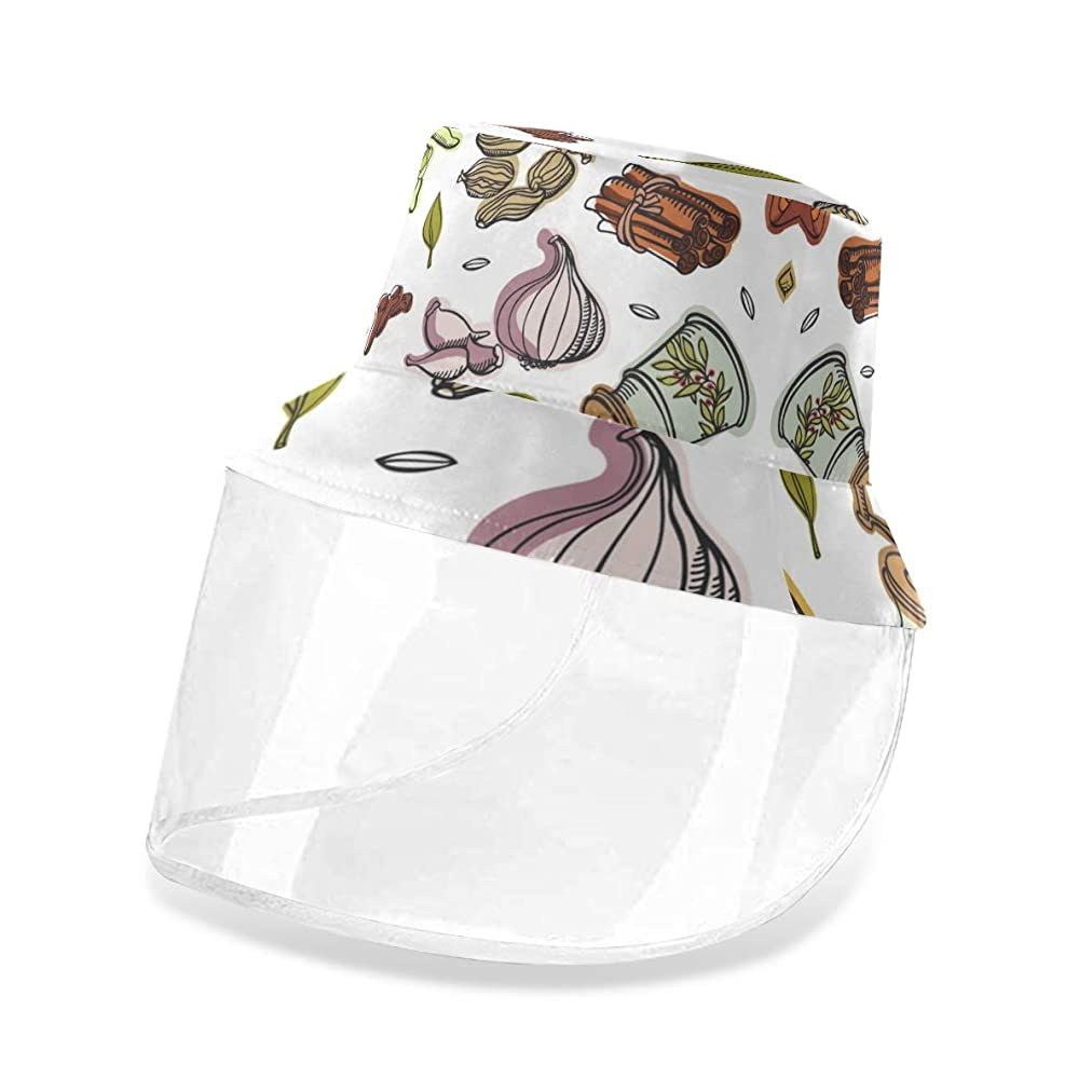 提出するネスト楽しい安全保護帽子防護 キャップ キッチン 野菜 漁師帽 顔面隔離 口鼻目保護 レインハット 取り外し可能 日焼け止め フェイスカバー 守る 防風砂 軽薄 男女兼用