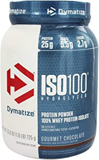 Dymatize ISO 100 Hydrolyzed Whey Protein Powder Isolate, Gourmet Chocolate, 1.6 Pound