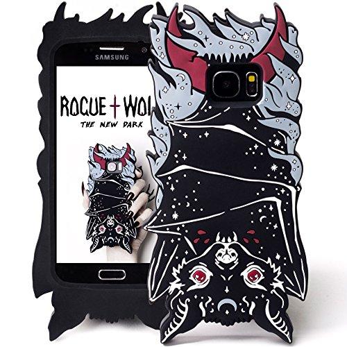 Rogue + Wolf 3D Vamp Bat Phone Hülle Kompatibel mit Samsung S6 S7 S6 Edge Galaxy Hüllen Kawaii Handyhüllen Schützende Silikonhülle